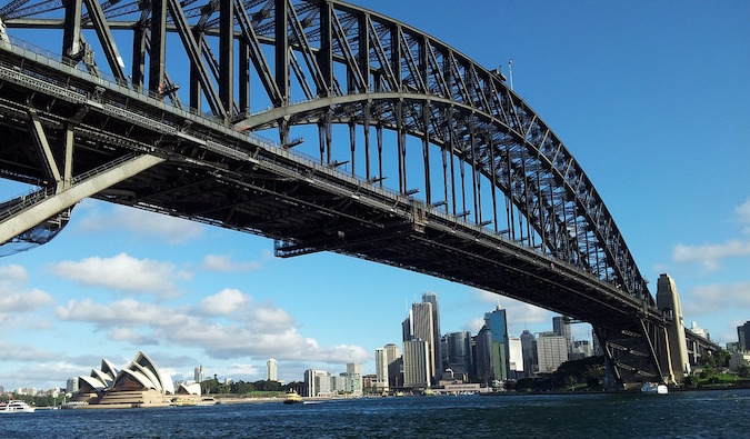 Great angle of the Harbour/Harbor Bridge in Syndey Aussie