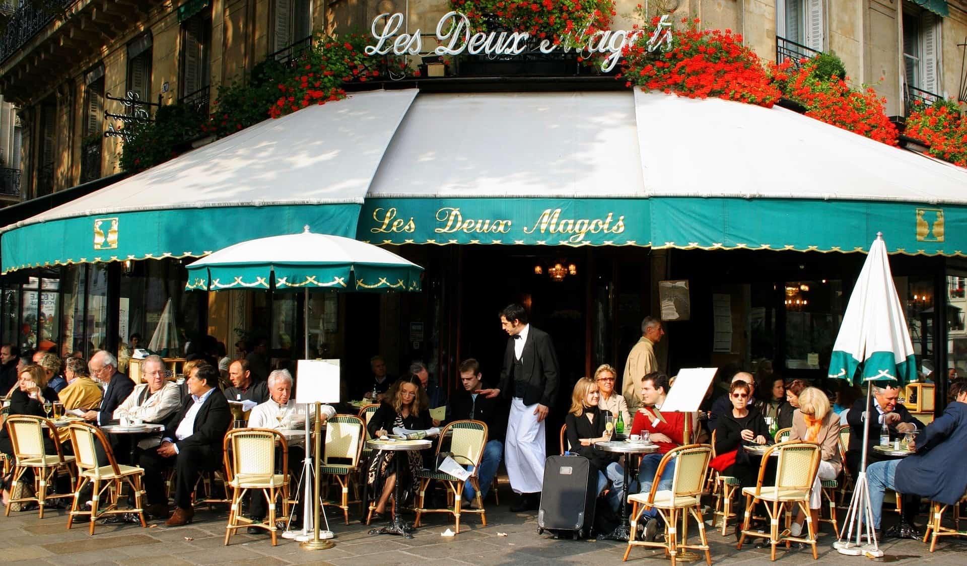 Les Deux Magots in Paris