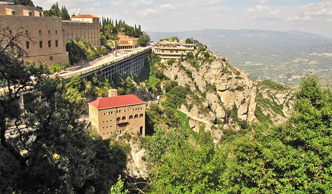 the monastic buildings at Montserrat