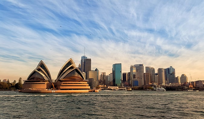 The Sydney Opera House as seen from the water
