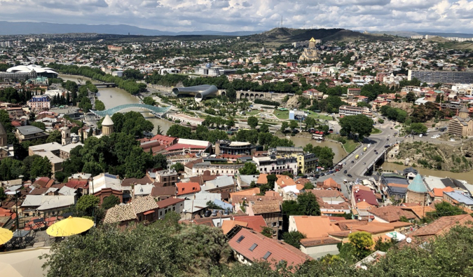 A view overlooking Tbilisi