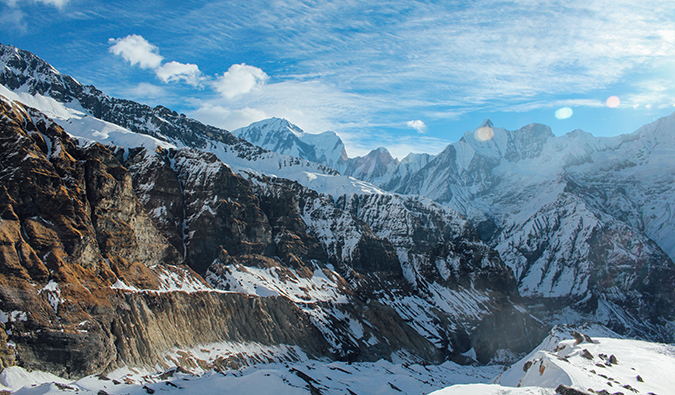 mountains in the Annapurna Circuit, Nepal