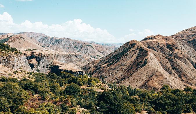 Rugged mountains in Armenia