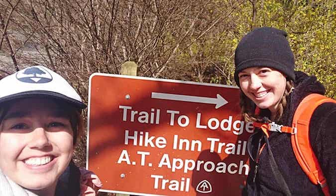 Caroline Eubanks on the Appalachian Trail Approach Trail