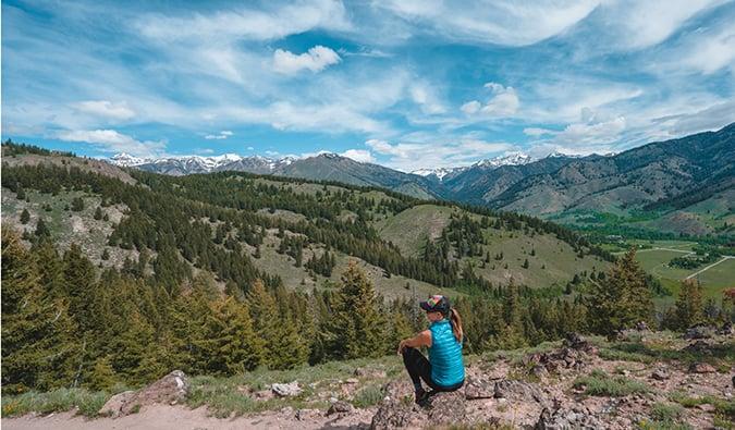 Kristin Addis hiking in Idaho