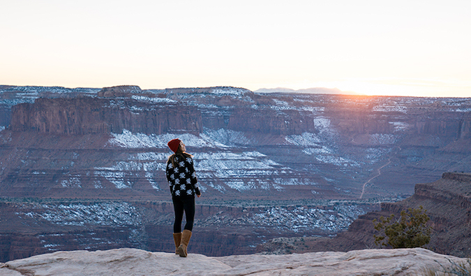 Kristin Addis standing at the edge of the Grand Canyon