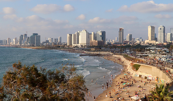 The view of Tel Aviv's beachfront from Jaffa