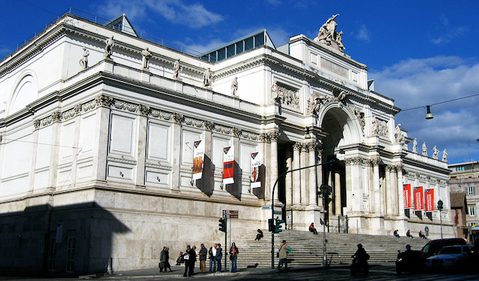 Palazzo delle Esposizioni in Rome photo by Emanuele (flickr:@zakmc)