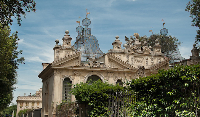 the Villa Borghese gardens in Parioli, Rome