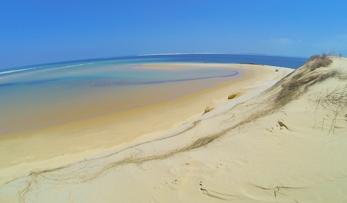 sand dunes in mozambique