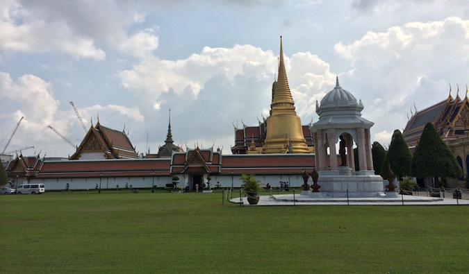 Bangkok grand palace in the heart of the city
