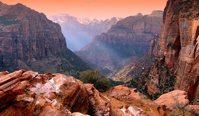 Visiting a national park like Zion is a good way to save money and experience wonder
