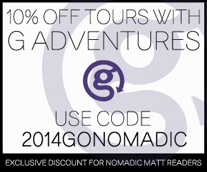 10% off g adventure tours