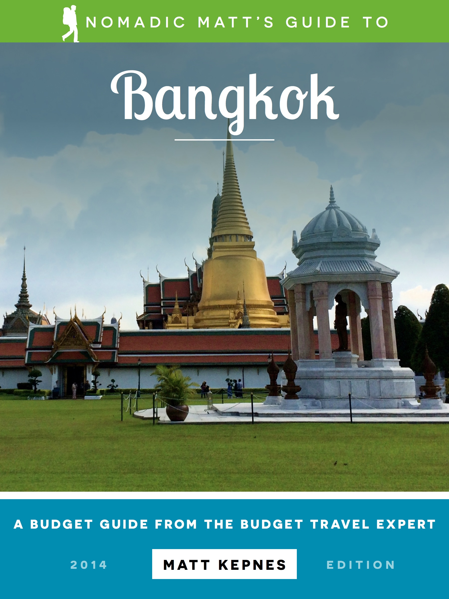 The cover of the bangkok travel guide by nomadic matt