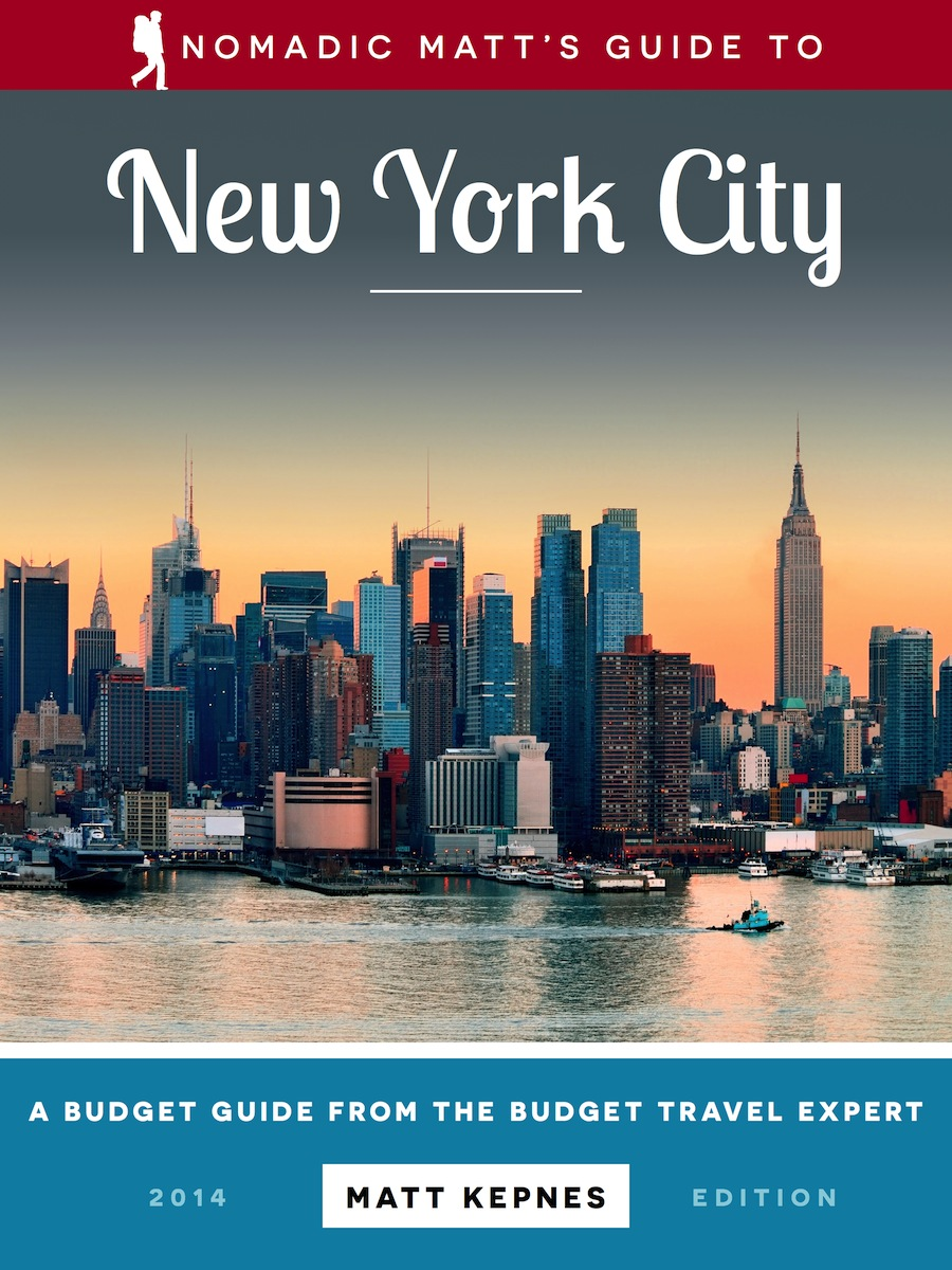 The cover of the nyc travel guide by nomadic matt
