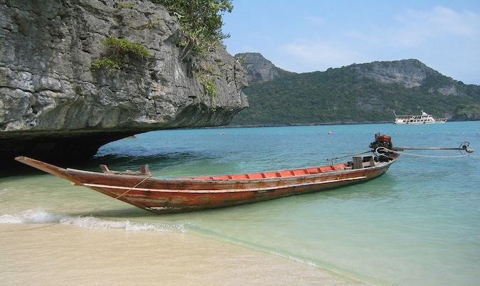 thailand long boats in ko samui