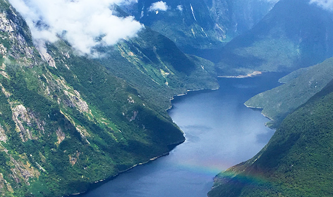 A view of the fjord from the seaplane