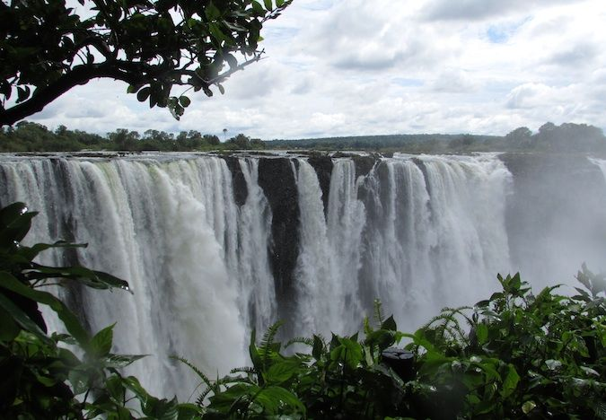 Victoria Falls from the Zimbabwe side in Southern Africa
