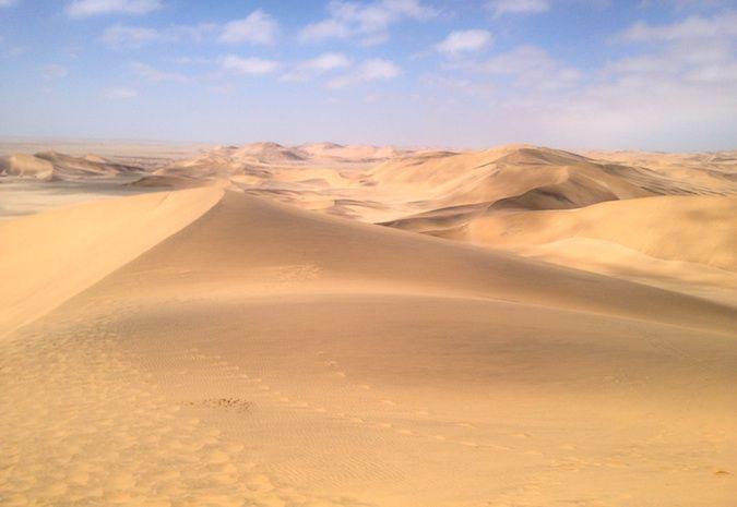 Sand dunes outside Swakopmund, Namibia