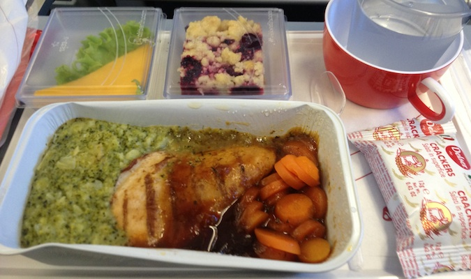 air berlin food in economy class