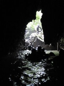 adventure travel in the Waitomo glow worm caves