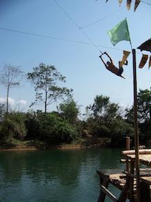 Dumb backpacker in Laos