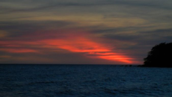 sunset on bamboo island