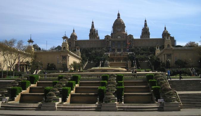 Montjuïc Hill in barcelona
