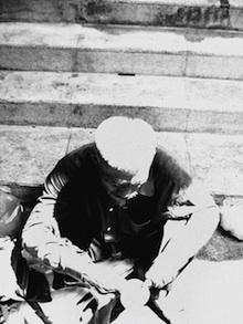 Desperate beggar in Bangkok, Thailand