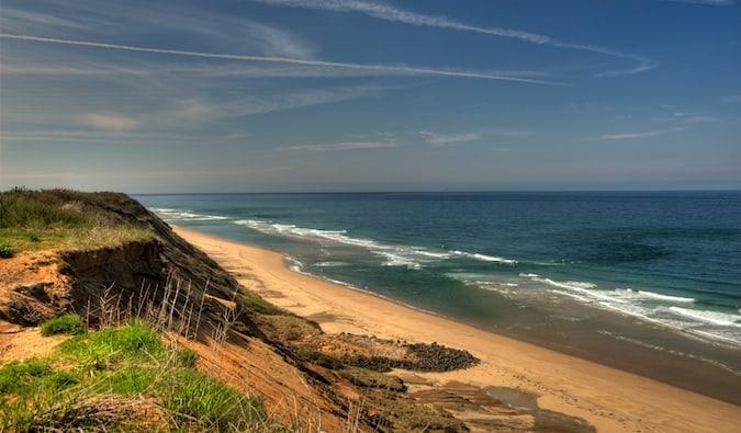 a sunny cape cod beach