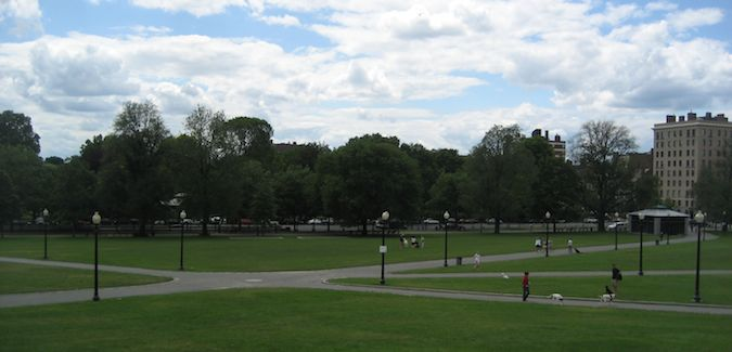 Boston Commons is a great place to spend the day in the summer