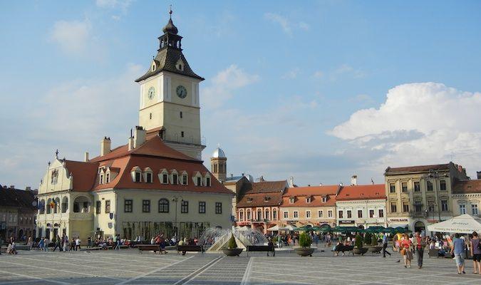 Main square in Brasov, Romania