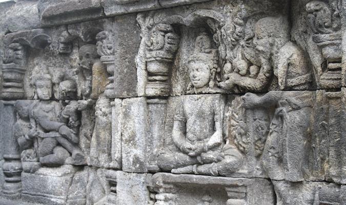 Borobudur base reliefs
