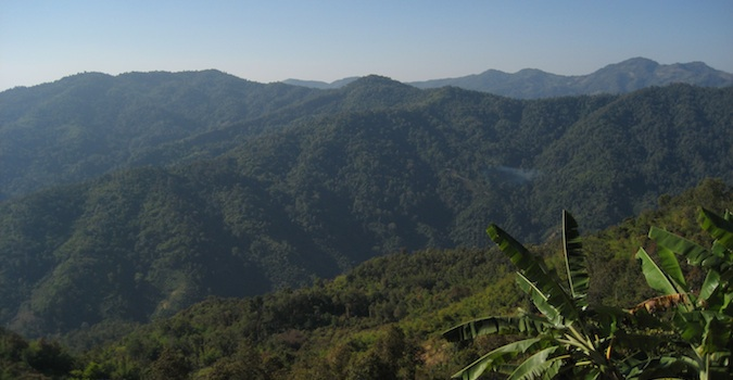 The lush mountains of Chiang Mai, Northern Thailand