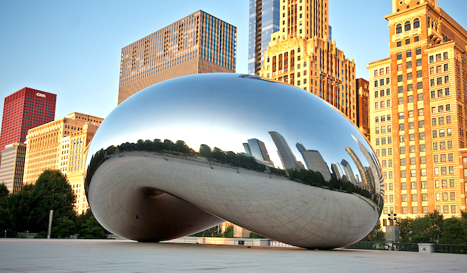 Chicago Bean in Millennium Park