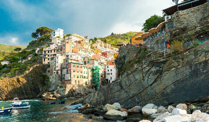 The rugged coastling of the Cinque Terre in Italy