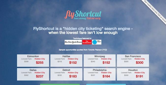 flyshortcut main homepage
