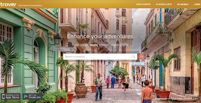 trover main homepage