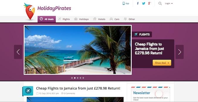 holiday pirates main homepage