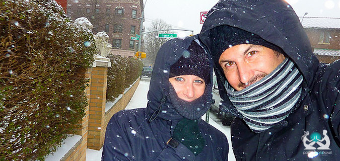 traveling as a couple to a snow-covered country that's cold