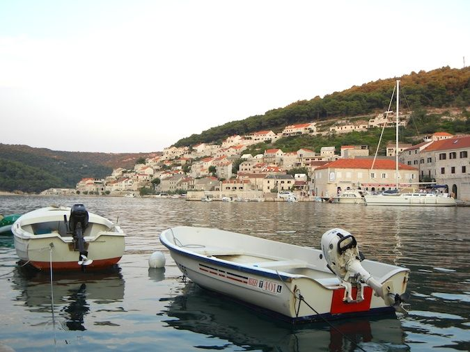 two boats floating on croatia's dalmation coast
