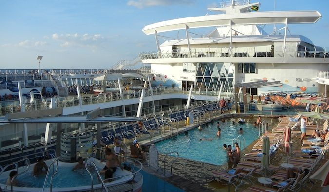 Cruise life: watching mass tourism as it's finest on the pol deck