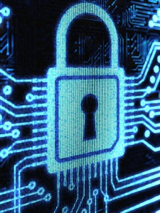 Data security lock symbol