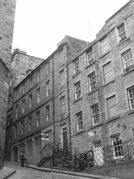edinburgh scotland black and white photo