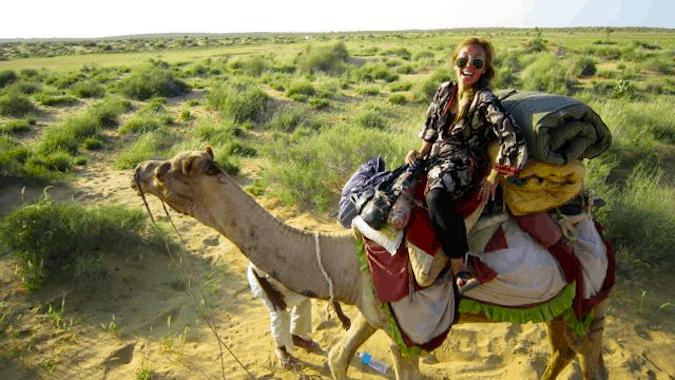 emily on a camel