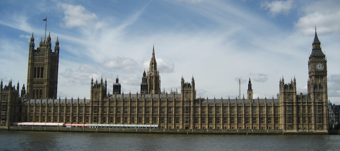 The Parliament Building and Big Ben in London, England