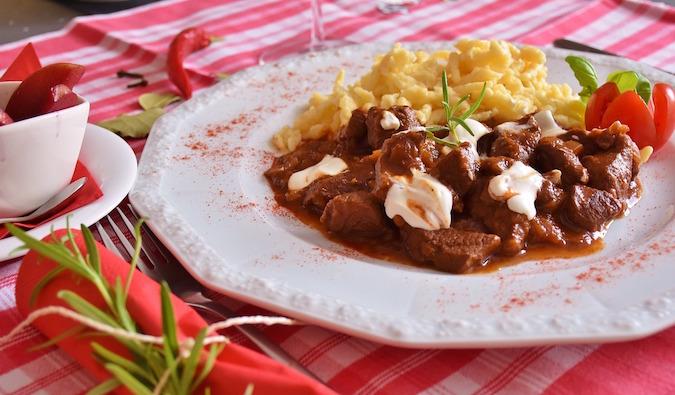 Eastern European goulash dinner - Prague