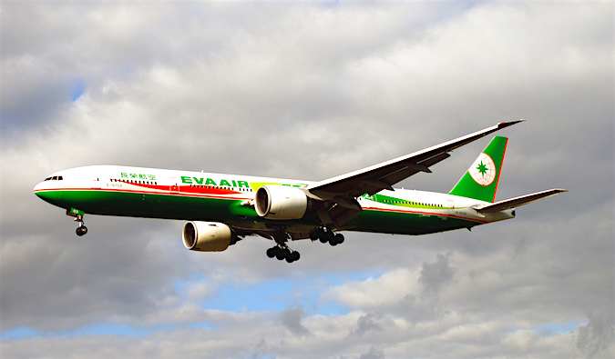 An Eva Air airplane
