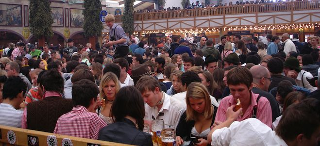 getting drunk at oktoberfest