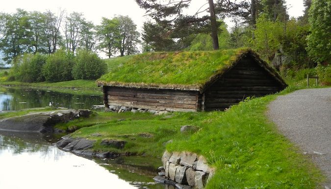Historic homes in old Alesund